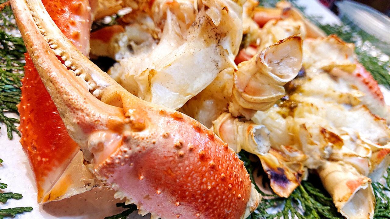 松葉がにの焼き蟹